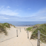 Path to the Beach in Summer. Sand dunes