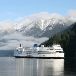 BC Ferry with Island mountains in the background