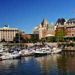 A view of Victoria's Waterfront and buildings