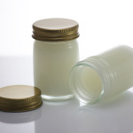 Pain relief balm in glass with camphor