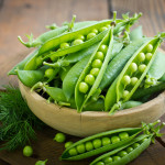 Fresh peas in the bowl - used to make pea peptide