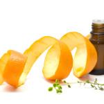 Orange Peel Essential oil with orange peel