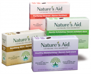 Four all natural skin benefiting handcrafted soap by Nature's Aid
