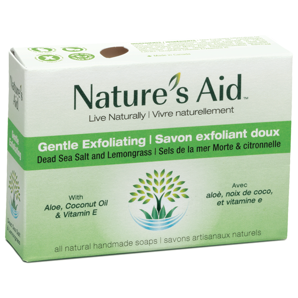 Gentle exfoliation soap box green
