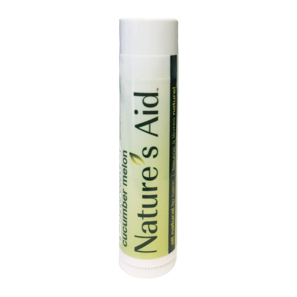 Cucumber melon lip balm, which green label