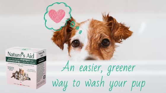 natural solid shampoo bar for pets